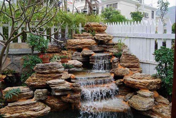 庭院景观假山流水展示