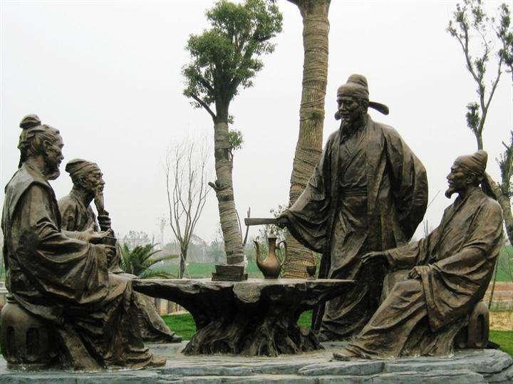 公园铸铜雕塑展示